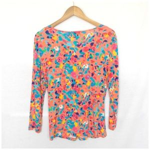 Cable & Gauge Tops - 2/$20 Cable Gauge Abstract Print Criss Cross Shirt